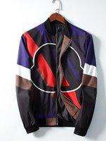 pipas italianas al por mayor-Chaqueta de marca de diseño italiano G chaqueta con estampado de leopardo arcoiris ribete acanalado cabeza de leopardo