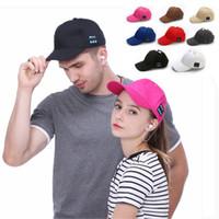 Wholesale decoration baseball cap resale online - Bluetooth Music Baseball Cap Creative Canvas Sun Hat Music Handsfree Headset with Mic Speaker Cap Sport Ball Hat TTA1562