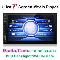 """kit de amplificador bluetooth venda por atacado-Ultra Slim 7"""" touchscreen capacitivo Car Media Player com rádio / BT / USB / SD / AUX / RGB Backlight / SWC / Remoto # 3582"""