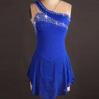 blau wettbewerb eislaufen kleider groihandel-Custome bildete Mädchen-Frauen Royal Blue Eislaufen Kleid Wettbewerb Ice Eiskunstlauf-Kleid für Leistung TXH-B004