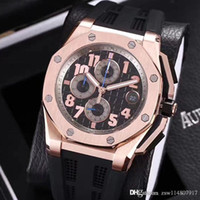 Wholesale sapphire strap dress for sale - Group buy Rose gold Limited Edition Gray White VK Quartz Chronograph Rubber Strap Dress mens Watches