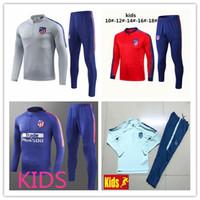 Wholesale kids atletico tracksuit soccer Training suit soccer wear kids GRIEZMANN F TORRES KOKE Madrid football jacket sets chandal
