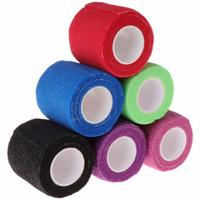 6pcs Disposable Self-adhesive Elastic Bandage for Handle Grip Tube Tattoo