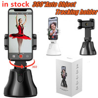 Wholesale 2020 Smart Shooting Selfie Stick Smart phone Holder Mount Rotation Auto Face Tracking Object Tracking vlog Camera Phone Holder Universal