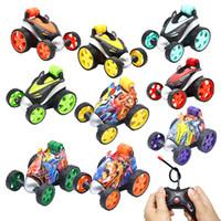 uzaktan kablosuz araç oyuncakları toptan satış-2019 sıcak satmak Kablosuz uzaktan Ayaklı araba elektrikli yuvarlanan dublör uzaktan kumandalı araba Noel hediyesi çocuklar yarışma oyuncaklar grafiti