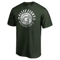 camisetas de viaje al por mayor-Hombres Michigan State Spartans 2018 Jugador Campeones nacionales de Travel Legend cuatro fanáticos de baloncesto finalistas camisetas
