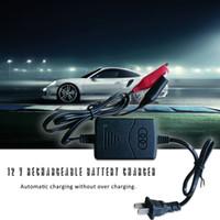 baterias recarregáveis venda por atacado-Carregador de bateria da motocicleta Auto proteção de curto-circuito 12 V 1300mA Carregador de bateria recarregável automática de chumbo selado