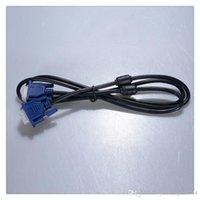 câble de moniteur d'ordinateur vga achat en gros de-uxcell® noir bleu VGA 15 broches mâle à mâle fiche moniteur moniteur câble fil 4.2ft vente chaude