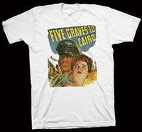 tom de filme venda por atacado-Cinco Graves para o Cairo T-Shirt Billy Wilder, Franchot Tone, Anne Baxter, Filme denim roupas camiseta