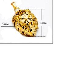 hip-hop-anhänger marke großhandel-Herren herrschsame Halskette Persönlichkeit Tide Marke Reggae Lion Head Anhänger Hip Hop Halskette Hersteller schnelles Verschiffen