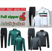 equipes de jaqueta venda por atacado-2019 jaqueta do México fatos de treino 18/19/20 equipe nacional CHICHARITO H.LOZANO H.LOZANO México futebol jaquetas de futebol completo zipper set sportswear
