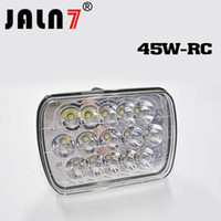 ingrosso h4 ha portato hi low-45w 5x7 7x6 fari rettangolari led Hi / Low Beam H4 Plug Headlight sostituzione H6054 H5054 H6054LL 69822 6052 6053 H4 9003 cablaggio