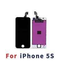 réparation de rétroéclairage lcd achat en gros de-Rétro-éclairage LCD Clair Pour iPhone 5S Écran Tactile Digitizer Assemblée Complète Remplacement Réparation Pièces Livraison Gratuite