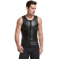 yüzme neopren kıyafeti toptan satış-Wetsuits neopren 2mm hafif jel yüzme surf suit dalış takım elbise bölünmüş dalış yelek sıcak kış soğuk dalış takım