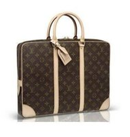 Wholesale quality laptops for sale - Group buy 100 high quality LOUIS VUITTON briefcase business package MICHAEL KOR laptop bags classic mens shoulder bag clutch LOUIS messeng