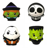 Wholesale toy kids men resale online - Halloween Jumbo Squishy CM The Skull Man Witch Vampire Green Zombie Scented Squishies Slow Rising Bread Kawayi Depression Kids Toys