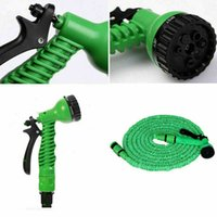 Wholesale expandable garden hose pipes resale online - New ft Expandable Flexible Hose Watering Garden Hose Car Wash Stretched Magic Expandable Garden Supplies Water Hoses Pipe Cleaning Tool