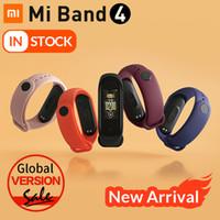 умный браслет оптовых-Оригинальный Mi Band 4 Умный Браслет Xiaomi band 4 Фитнес-трекер часы Heart Rate Sleep Monitor 0,95 дюймов OLED Дисплей Band4 Bluetooth