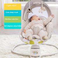 bebek sandalyeleri toptan satış-Oto-salıncak Bebek Sallanan Sandalye Bebek Beşiği Yatıştırmak için Tanrı Uykuda Yenidoğan Yatak Beşiği nonelectric uyku yatak Babyfond