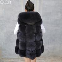 deri yelek bayanlar toptan satış-Kadın kapüşonlu kürk gerçek yelek, gerçek doğal kürk, şapka, bayan ceket yelek deri