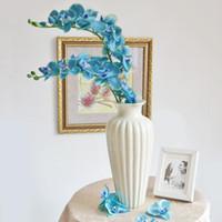 Wholesale elegant artificial orchid for sale - Group buy Elegant Artificial Phalaenopsis Flowers cm quot Length Butterfly Orchid Bouquet For Home Ornament Wedding Decoration Color