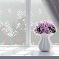 etiqueta de la puerta de vidrio de película al por mayor-45cm * 200cm de largo película al baño puerta corredera de vidrio balcón pegatinas de papel de vidrio translúcido ventana a prueba de agua