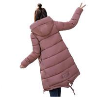 casaco de inverno novo para menina venda por atacado-Estudantes de Algodão-acolchoado Jaqueta de Inverno Parkas Novas Mulheres Casaco Com Capuz Plus Size Grosso Quente Top Magro Menina Longo Parkas