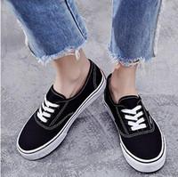 lässige produkte großhandel-Freizeitschuhe Produktdetails Klassisches Schwarz Weiß Old Skool Männer Frauen beiläufige flache Schuhe Sneakers Skateboar