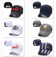 chapéus de snapback personalizados bordados venda por atacado-Bonés de Beisebol personalizado Logotipo Bordado Da Marca Bonés de Beisebol Casuais Camionista Cap La Hip Hop Chapéus Denim Curvo Casquets Snapback DF10G14