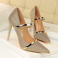 сексуальные женские ткани оптовых-мэри джейн основные женщины высокие каблуки туфли на высоком каблуке женская обувь на каблуках блестки сексуальные дамы мода 2019 женская обувь блестками ткань