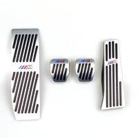 Wholesale brake clutch gas pedals for sale - Group buy No Drill Pedals For BMW Series E46 E90 E91 E92 E93 E87 E88 Aluminum Clutch Gas Brake Footrest Pedal LHD MT With M logo