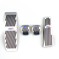 pedales de freno del embrague al por mayor-Sin Pedales taladro para BMW 1 Serie 3 E46 E90 E91 E92 E93 E87 E88 Aluminio Gas embrague freno del reposapiés del pedal LHD MT con el logotipo M