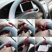 Wholesale car steering phone holder for sale - Group buy Car Steering Wheel Phone Socket Holder Clip Mount Cradle Car Bike etc Random Mobile Phone GPS Holder