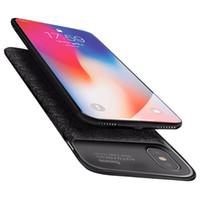 slim pack achat en gros de-Etui chargeur de batterie pour iPhone X Ultra Slim Power Bank Pack Sauvegarde Externe Recharge pour iPhoneX