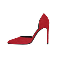 escritório moda para mulheres vestido venda por atacado-Kolnoo das mulheres de 10 cm de salto alto dorsay bomba em nl footbed dedo apontado sapatos partido escritório moda bfc dress shoes xn000-5