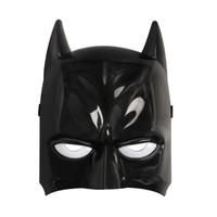 iluminación de batman al por mayor-Batman Máscara LED de luz brillante de dibujos animados de Halloween del partido del Super héroe del juguete del resplandor de la lámpara Para niños de los niños
