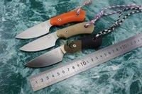melhor faca fixa edc venda por atacado-Lu Wokers Mango ao ar livre lâmina fixa faca D2 aço G10 lidar com Melhor Sobrevivência EDC Camping Presente Ferramenta Facas