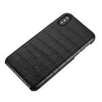 kahverengi deri iphone durumda toptan satış-Deri Koruyucu Kılıflar Timsah desen Arka Kapak iphone X XR XS XS MAX siyah mavi kırmızı kahverengi