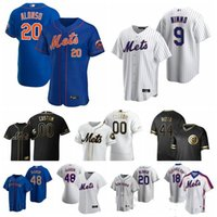 Wholesale dwight gooden jersey for sale - Group buy 20 Pete Alonso new Mets Baseball Jerseys Jacob deGrom Darryl Strawberry Keith Hernandez Dwight Gooden Piazza Jersey