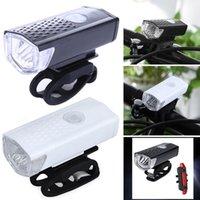 перезаряжаемые сигнальные лампы оптовых-300 люмен велосипед USB фары Водонепроницаемый Подсветка для езды на велосипеде Аккумуляторная сигнальная лампа для велосипеда Фары для зарядки велосипедов LJJZ42