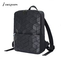 Wholesale folding laptop for sale - Group buy Women And Men Geometric Laptop Backpack Women Backpack School Hologram Folding Student Zipper Backpacks Bagpack Mochila FemininaMX190903