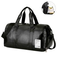 Wholesale PU Leather Gym Bag Fitness Sports Bags Dry Wet Handbags For Men Women Training Shoulder Traveling Storage Bags