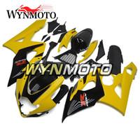 carimbo k5 amarelo venda por atacado-Injeção De Plástico ABS Motocicleta Carenagens Para Suzuki GSXR1000 K5 2005 2006 05 06 capas de motocicleta gsxr 1000 casco capotas Amarelo Preto
