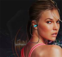 Wholesale new waterproof cell phones resale online - New Sports Wireless Bluetooth Headset Hanging Ear Biaural Running Waterproof Cross border Factory Q6U8 Q7S welcome to order