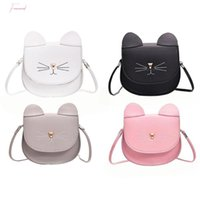 Wholesale girls princess bags for sale - Group buy Fashion Children Princess Small Cute Cate Messenger Bag Girl Animal Pattern Mini Pu Women Shoulder Bags Cute Cat Baby Bag