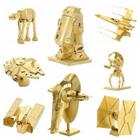 jouet impérial achat en gros de-3D Métal Puzzles D'or R2D2 Robot Imperial Destroyer Titanic Modèle DIY Laser Cut Manuel Kits Scie sauteuse Jouets Éducatifs