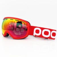 óculos de sol de esqui névoa venda por atacado-POC Marca Fovea Clarity Comp óculos de esqui camadas duplas anti-nevoeiro óculos máscara de esqui óculos de sol snowboard homens esqui mulheres neve