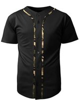 nylon jersey hemden großhandel-Herren Baseball Team Jersey Button Down T Shirts Einfaches Kurzarm Top schwarz / Camo Trikots