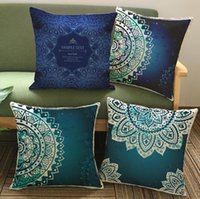 Wholesale floral pillow cases resale online - 4 Styles cm Mandala Pillow Case Cushion Cover Floral Printed Cushion Cover Home Sofa Car Decoration CCA11585