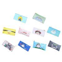 kalem reklam toptan satış-Özelleştirilebilir Logo Karikatür Basit Pu Deri Kalem Kutusu Öğrenci Yaratıcı Çocuk Kalem Kırtasiye Çantası Hediye Reklam